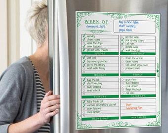 Weekly organizing~Weekly organizer planner~To do list organizer~Weekly schedule planner~Dry erase planner~Weekly agenda planning