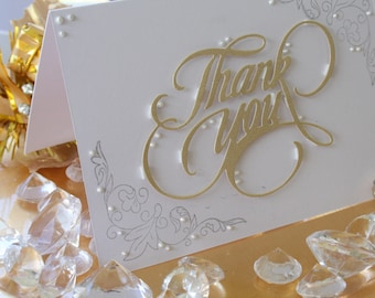 Wholesale Listing Set of 10 Thank You Cards // Handmade Cards // Wholesale // Thank You Cards // Appreciation Cards // Liquid Pearls