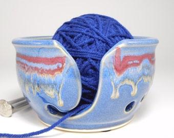 Ceramic Yarn Bowl - Yarn Pot - Organiser for Yarn - Yarn Bowl Holder - Handmade Yarn Bowl - Clay Yarn Bowl - Yarn Holder Knitting - In Stock
