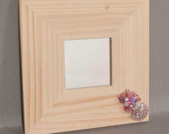 Natural Pine Shell Mirror