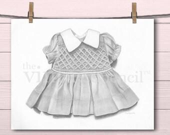 Girl Nursery, Girl Nursery Decor, Baby Girl Nursery, Girls Room Decor, Girls Room Art, Baby Girl Print, Girl Art, Nursery Print, Doll Dress