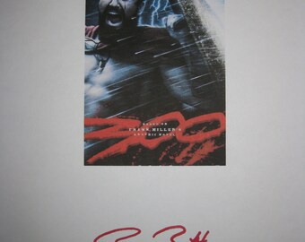 300 Signed Movie Film Script Screenplay Autograph Gerard Butler signature