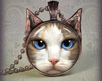 Cat pendant // Ragdoll Cat pendant // Cat resin pendant // Cat jewelry // Cat Jewelry Picture Pendant // RD2