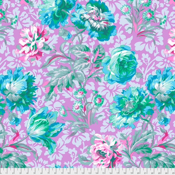 BAROQUE FLORAL Lavender Philip Jacobs PWPJ090.LAVEN Kaffe Fassett Collective Sold in 1/2 yd increments Pre-Order Item
