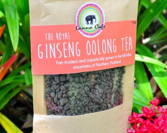 Ginseng Oolong Tea Packet 100g - A Royal Favorite/ Organic Herbal Tea from Thailand / Fair-trade Tea / Naturally Sourced Tea / Organic Tea