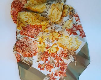 Vintage stole in pure silk