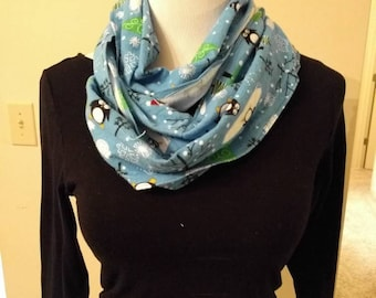Cute penguins winter infinity scarf
