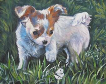 Chihuahua  CANVAS print of LA Shepard painting 11x14 dog art