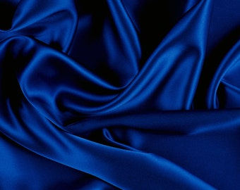 "45"" Wide 100% Silk Charmeuse Blue (1000M150)"