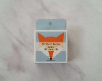 Fox Washi tape   Paper tape   Scrapbooking   Bullet journal accessories   Planner accessories   BUJO   Masking tape   Craft tape