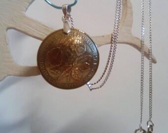 Malagasy Republic 1970 20 francs coin Medallion