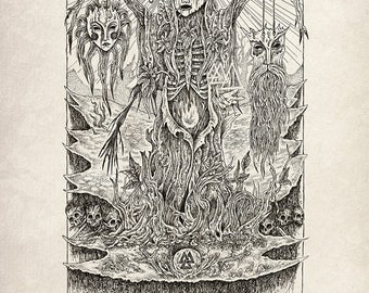 The Masks of Herne A3 Print