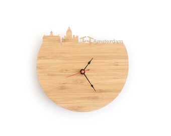 Amsterdam Modern Clock - City Skyline Wall Clock