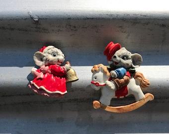 Vintage Mouse Refrigerator Magnets