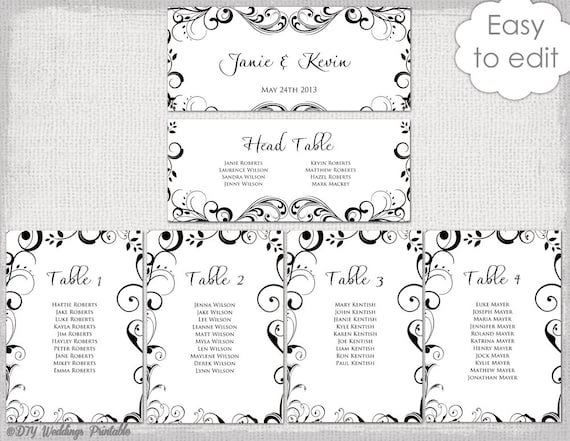 table seating plan template free download - Boat.jeremyeaton.co