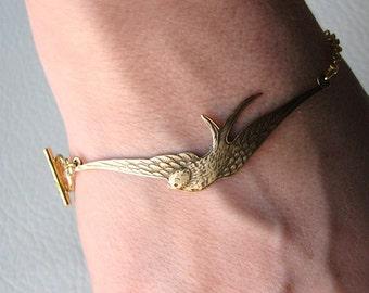 golden swallow bracelet
