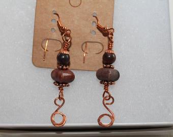 Earrings Copper Apple