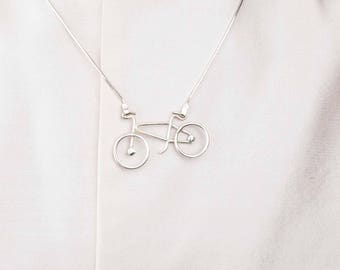 Ride my bicycle - Silver necklace
