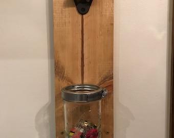 Wall Mounted Ball Jar Bottle Opener
