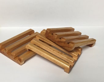 Handmade wooden soap rack