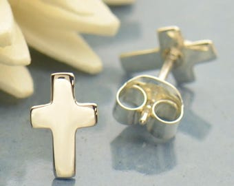 Sterling Silver Cross Post Earrings