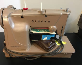 Vintage Singer Style O Matic 328 K Sewing Machine With Case Working Condition !