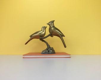 Vintage Brass Birds, Bird Figurine, Bird Sculpture, Brass Animal, Brass Figurine, Brass Home Decor, Vintage Brass