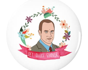Elliot Stabler (Law and Order SVU) 2.25inch Pin Back Button