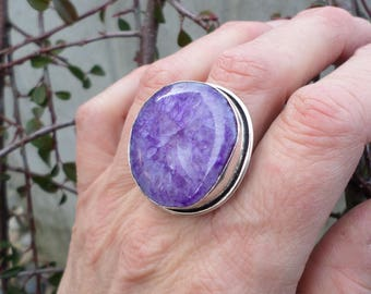 Solar Quartz (BA29) and 925 sterling silver ring