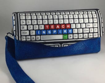 Wallet featuring keyboard, great for teachers