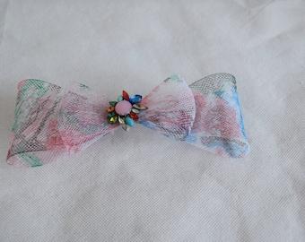 Crin bow fascinator hair clip