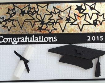 3D Graduation Card, Handmade Card, Congratulations Graduate Card, Luxury Graduation Card, Unique Graduation Card, Hand Made Card