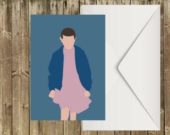 Eleven - Stranger Things - Postcard