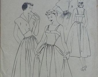 "Original vintage sewing pattern. Butterick 5378. Dress and Bolero jacket. Bust 34"". FF unused"