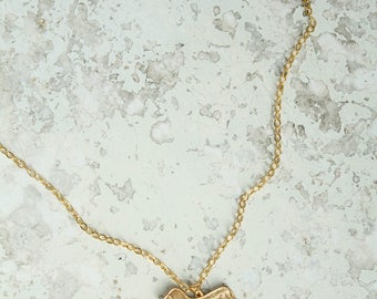 Lover Necklace: Wiener Dog, Brass Necklace