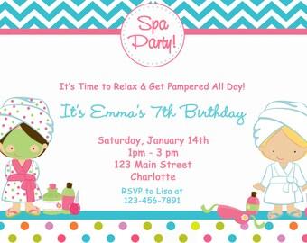 Spa birthday party invitation nail party manicure party spa spa birthday party invitation spa party spa birthday printable invitation stopboris Choice Image