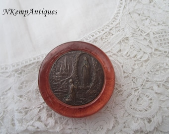 French religious item 1920's paperweight