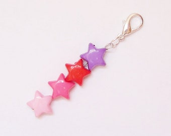 Clasp Charm, Rainbow 4 Star Charm, Zipper Charm, Kid Party Gift