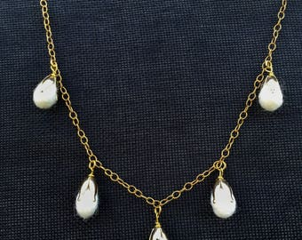Gold Cotton Bud Necklace