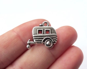 4, Camper, Trailer, Camping, Travel, Charms 20x19mm