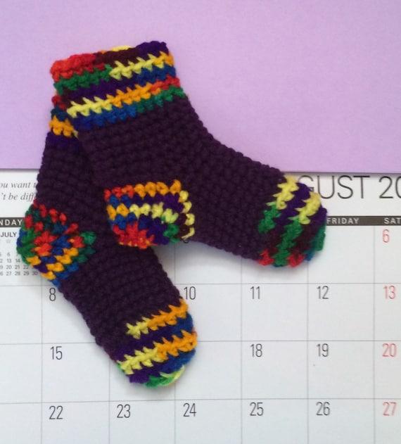 Pattern Crochet Baby Socks Pattern 0 To 6 Months Digital