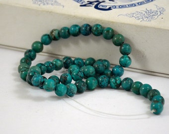 Natural Turquoise Beads Real Turquoise Old Turquoise Beads 25beads Round Beads 8-9mm
