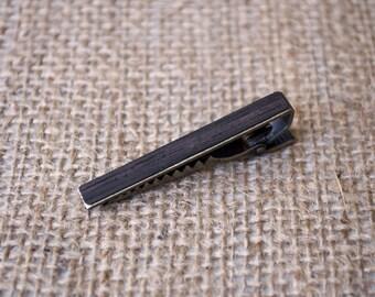 Wooden tie clip, tie bar vintage, tie clip vintage, wood tie clip, skinny tie clip, tie clip man, anniversary gift for, tie clips men, gift
