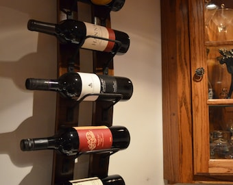 Wine rack - 5 bottle Rustic Wine Rack with Steel banding made from reclaimed wooden barrels