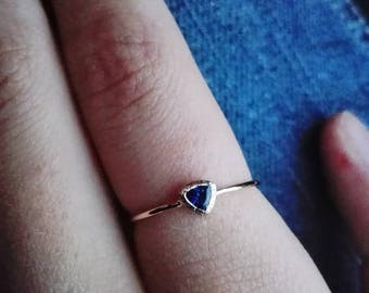 Blue Sapphire Ring, September Birthstone, Engagement ring, 14k gold ring, Gemstone ring, Solitaire ring, Sapphire jewelry