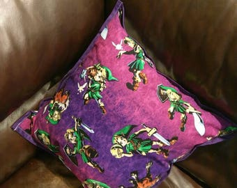The Legend of Zelda: Majora's Mask 16x16 decorative pillow.