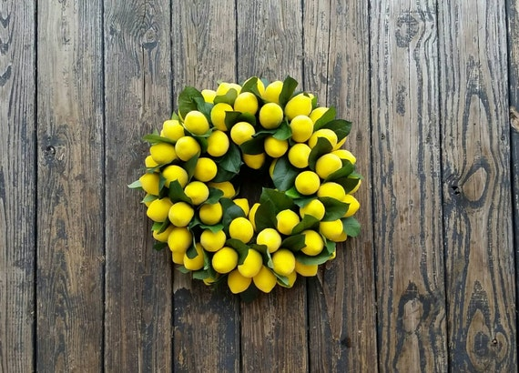 Sugared Lemon Wreath, Christmas Wreath