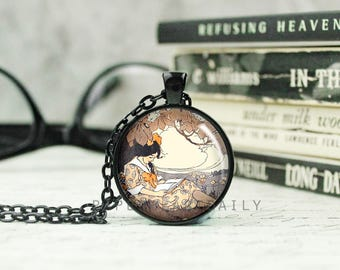 Book Art Pendant - Book Jewelry - Bookworm for Her - Book Gifts - Book Charm Necklace - Book Lover Necklace - Copper Book Charm - (B1972)