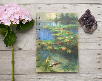 Koi Fish Journal | Sketchbook | Book | Notebook | Handmade