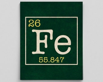 Periodic Table Element Print Perfect Science Teacher Gifts for Teachers Science Art Custom Home Decor Custom Nursery Prints Science Nursery